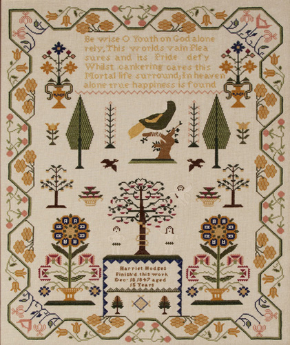 Harriet Hodges Reproduction Sampler